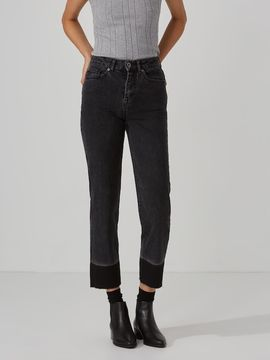 Frank and Oak The Patti Straight-Leg Jean in Washed Black