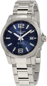 Longines Conquest Blue Dial Stainless Steel Automatic Men's Watch