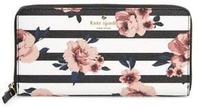 Kate Spade Hyde Lane - Rose Stripe Lacey Zip Around Wallet