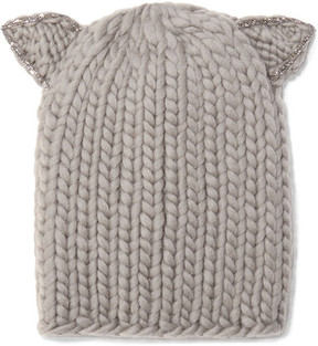 Eugenia Kim Felix Crystal-embellished Wool Beanie - Mushroom