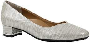J. Renee Bambalina Lizard Print Patent Leather Block Heel Pumps