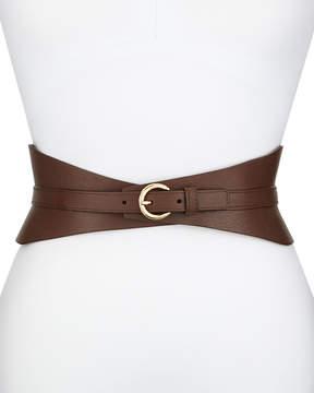 Neiman Marcus Leather Corset Belt, Brown