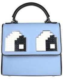 Les Petits Joueurs Women's Light Blue Leather Handbag.