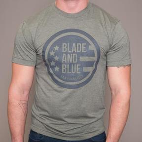 Blade + Blue Olive & Grey Crest Tee