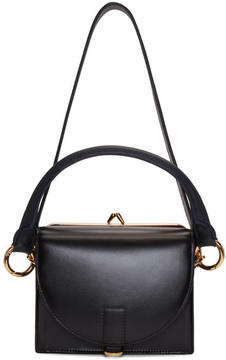 Sacai Black and Navy Mini Top Flap Satchel