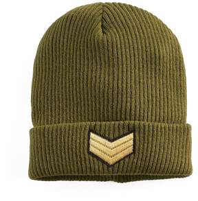 Mudd Women's Military Patch Beanie