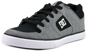 DC Pure Tx Se Youth Round Toe Synthetic Black Skate Shoe.