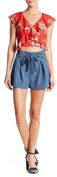 Flying Tomato Grommet Lace-Up Shorts