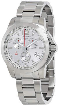 Longines Conquest Chronograph Silver Dial Men's Watch