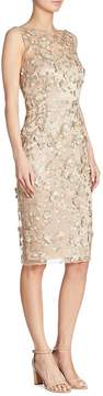 Theia Women's Floral Applique Dress