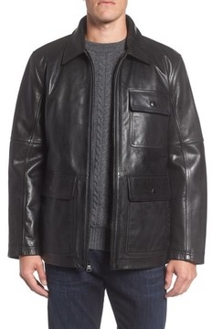 Andrew Marc Men's Bakers Calfskin Leather Jacket