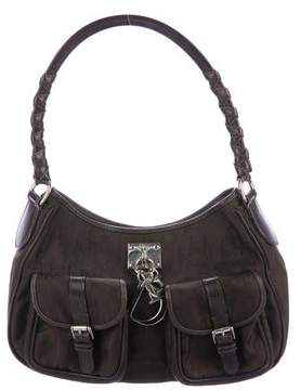 Christian Dior Leather-Trimmed Diorissimo Hobo