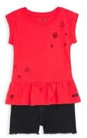 Hudson Little Girl's Vintage Top and Shorts Set