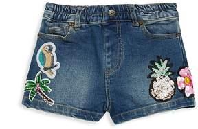 Hannah Banana Little Girl's Tropical Denim Shorts