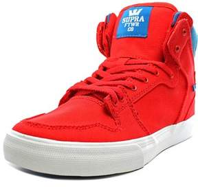 Supra Vaider Youth Round Toe Canvas Red Skate Shoe.