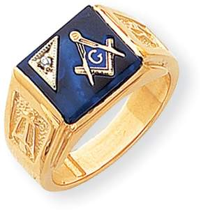 Ice 14k AA Diamond Men's Masonic Ring