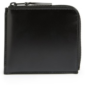 Comme des Garcons Men's Half Zip French Wallet - Black