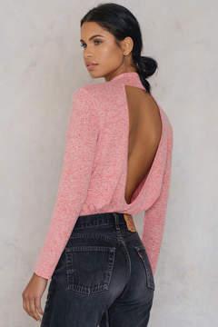 NA-KD Na Kd Deep Back Knitted Sweater