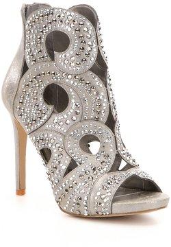 Gianni Bini Merilee Jeweled Swirl Cutout Peep Toe Stiletto Dress Sandals