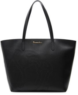Braccialini New Ninfea Large Embossed Rose Leather Tote