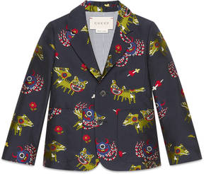 Children's monsters jacquard taffeta jacket
