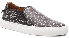 Givenchy Coated Canvas Street Skate Sneakers in Black,Geometric Print.