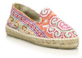Manebi Ibiza Embroidered Espadrille Flats