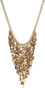 Carole Goldtone Bead Fringe Bib Necklace