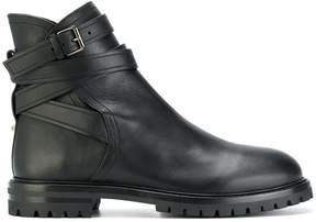 Valentino buckle strap boots