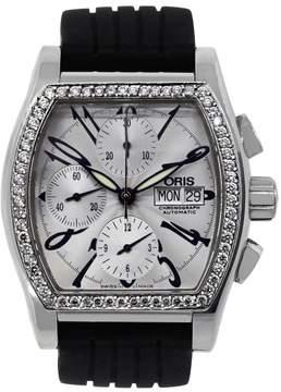 Oris Miles Tonneau 7532 Stainless Steel / Rubber Diamond Automatic 42mm Mens Watch