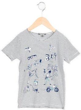 Bonpoint Boys' Striped Printed Shirt