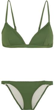 Eberjey So Solid Taylor Triangle Bikini - Dark green