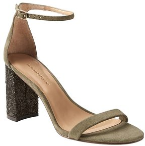 Banana Republic Bare High Block-Heel Glitter Sandal