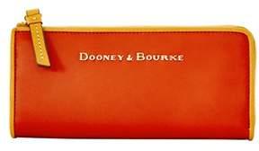 Dooney & Bourke City Zip Clutch. - ORANGE - STYLE