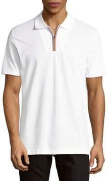 Luciano Barbera Half-Zip Cotton Polo