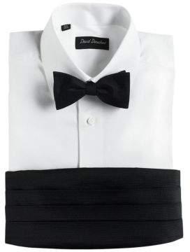Black & Brown Black Brown Pre-Tied Silk Bow Tie Cummerbund Set