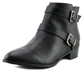 Material Girl Cady Women Round Toe Synthetic Black Bootie.