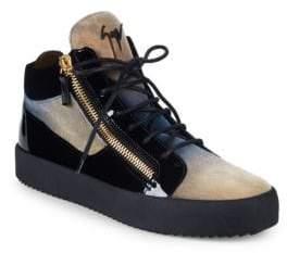 Giuseppe Zanotti Felt Tonal High-Top Sneakers