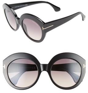 Tom Ford Women's Rachel 54Mm Gradient Lens Sunglasses - Shiny Black/ Gradient Smoke