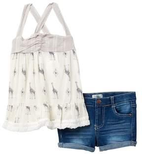 Jessica Simpson Top & Shorts Set (Toddler Girls)