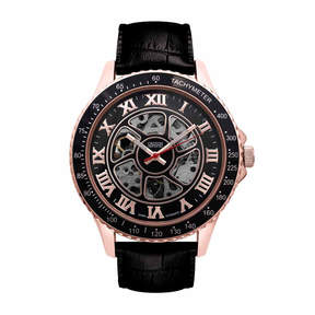 Croton Imperial Mens Black Strap Watch-Ci331094rgbk