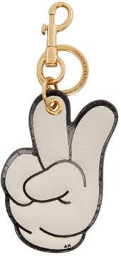 Anya Hindmarch Off-White Victory Hand Keychain