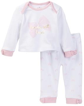 Kate Spade ready set bow loungewear set (Baby Girls)