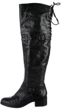 Pour La Victoire Leather Over-The-Knee Boots