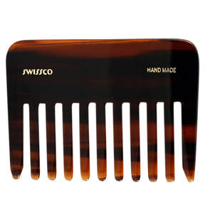 Tortoise Wide Tooth Perm Comb by Swissco (3.75inch Comb)