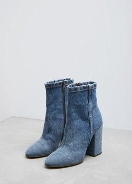 Dries Van Noten Indigo Denim Ankle Boot