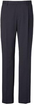 Banana Republic Slim Pleated Navy Wool Suit Trouser