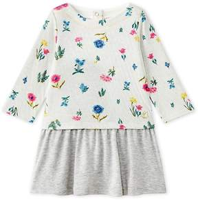 Petit Bateau Baby girl's dress with long sleeves