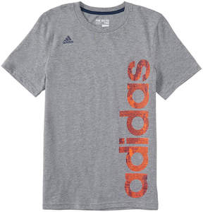 adidas Dark Gray Logo Supreme Speed Linear Tee - Boys