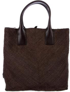 Dolce & Gabbana Leather Shopper Tote w/ Tags - BROWN - STYLE